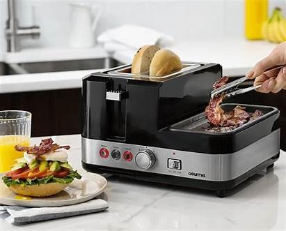 Breakfast Station Gourmia Bacon Egg Cooker Toaster