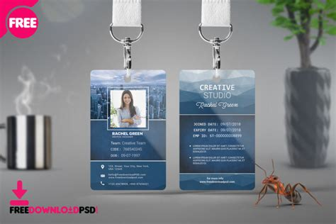 corporate identity card psd template freedownloadpsdcom