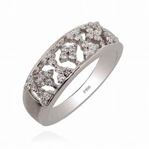Rings | Floral Wedding Band Platinum Ring | GRT Jewellers
