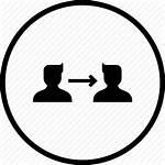 Communication Icon Communicate Oneway Avatar Talk Icons