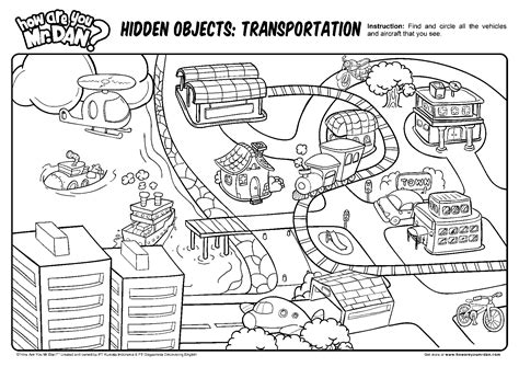 Hidden Object Transportation Printables How Are You