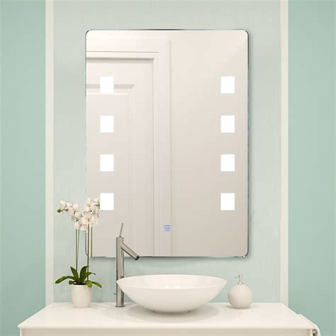 Bathroom Mirror by Led Lighted Bathroom Mirror Wall Aluminum Make Up Touch