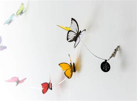 broches para cortinas guirnalda de mariposas con broches