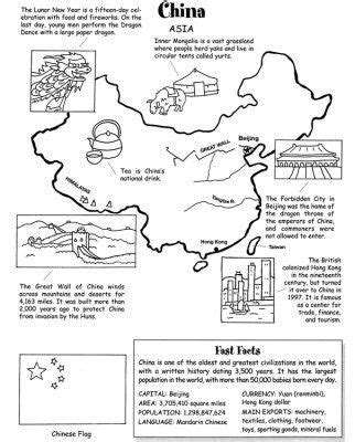 map of china geography worksheet english kids information design infographic y lesson plans