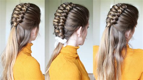 half up half down infinity braid hairstyle braids