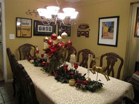 christmas dining room table decorations large and