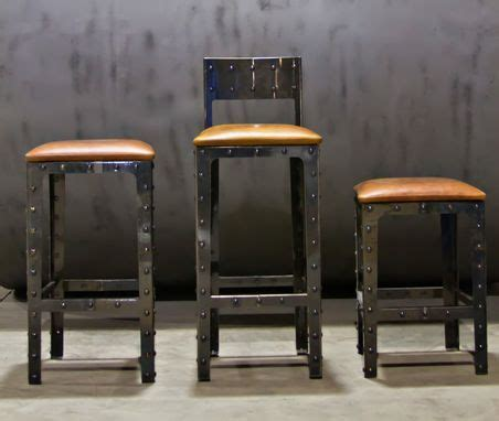 Hand Made Industrial Pub Height Table & Bar Stools by