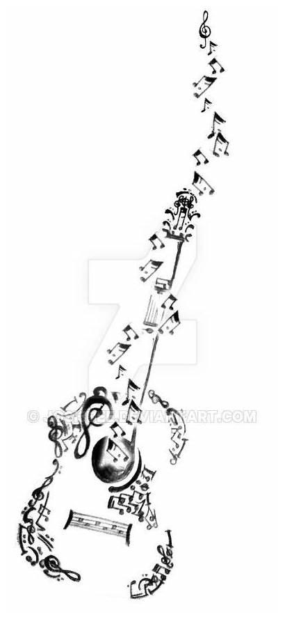 Tattoo Designs Guitar Tattoos Guitarist Drawing Acoustic