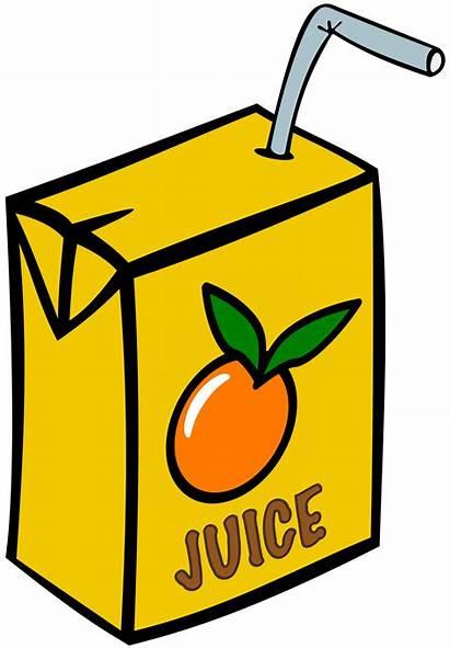 Juice Clipart Box Orange Drink Fruit Clip