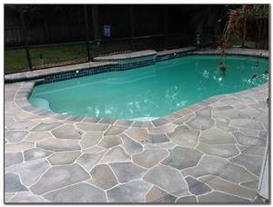 Concrete pool deck design ideas decks home decorating for Pool deck ideas made from concrete