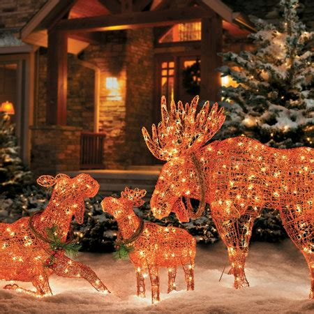 lighted outdoor christmas moose lighted moose decorations improvements