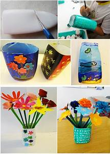 Art with Children: FLOWER VASE OUT OF PLASTIC BOTTLE