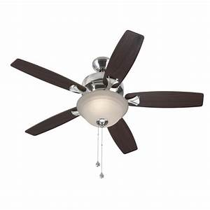 Harbor breeze ceiling fan light kit lowes : Harbor breeze pentiction in brushed nickel downrod