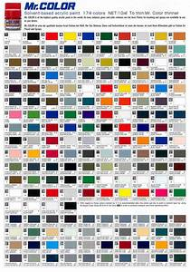 Urban S Colour Reference Charts Gunze Sangyo Mr Color Map