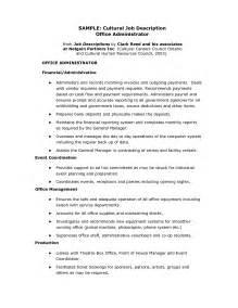 administrator description resume office administrator description recentresumes