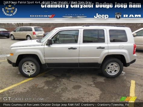 silver jeep patriot interior bright silver metallic 2013 jeep patriot sport 4x4