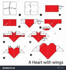 Step By Step Instructions How To Make Origami Heart With