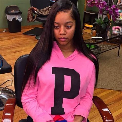 Sew In Weave Hairstyles Side Part by Sew In Side Part Pressed Bone