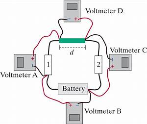 Solved  Four Voltmeters Are Connected To A Circuit As Show