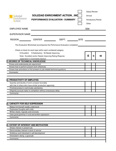 performance appraisal form google search