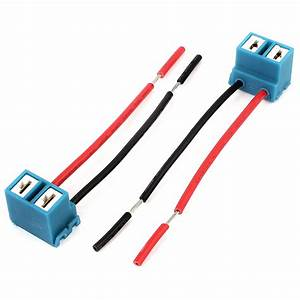 H7 Headlight Wiring Harness Socket Wire Connector Plug 2pcs