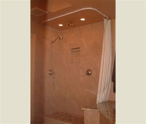suspended shower curtain ideas bendable rods