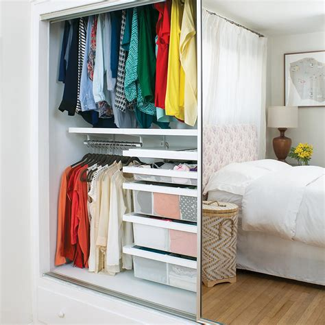 The Closet by White Elfa D 233 Cor Reach In Closet The Container Store