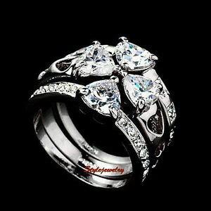 made with swarovski four leaf clover wedding engagement ring r102 ebay