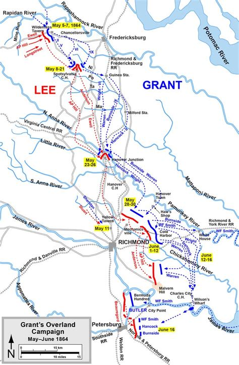 overland campaign   june   summary facts