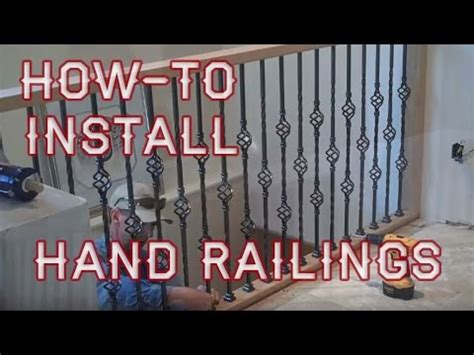 how to install a how to install balcony hand railings youtube