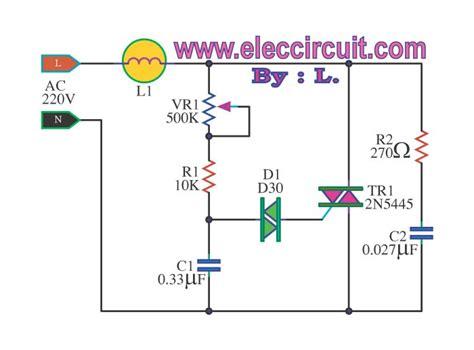 Dimmer Circuit Using Scr Triac Eleccircuit Neat