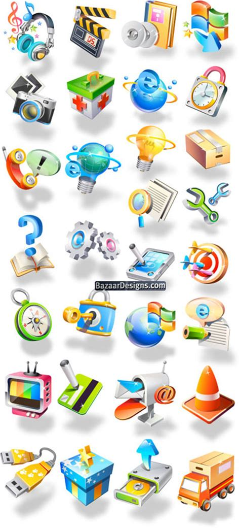 icons vector pack  vector graphics