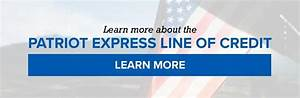 patriot expressr line of credit now available for veteran With no documentation business line of credit