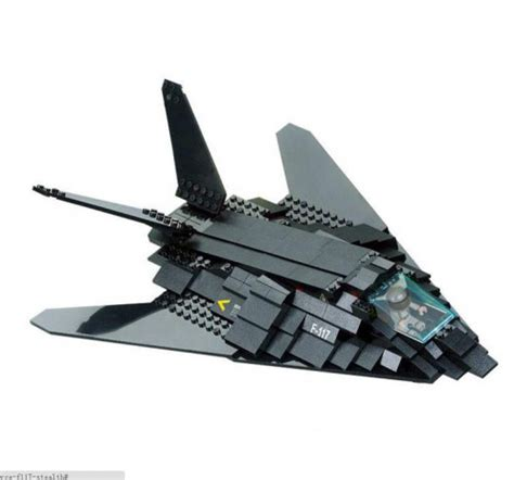 Army Air Force F117 Stealth Bomber Jet Fighter Plane Lego