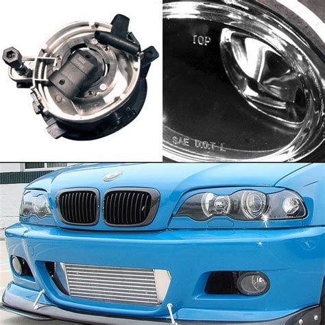 2001 06 bmw e46 m3 e39 m5 clear housing oem style fog lights