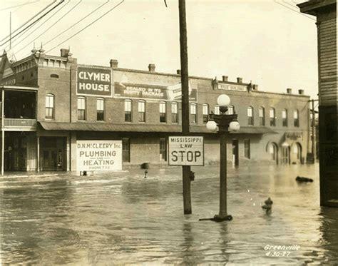mississippi river flood  vintage everyday