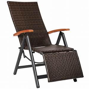 Rattansessel Für Draußen : relaxsessel poly rattan aluminium gartenstuhl mit fu st tze liegestuhl garten ebay ~ Yasmunasinghe.com Haus und Dekorationen