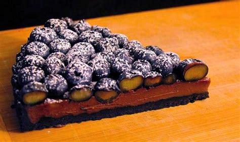 tarte chocolat  bleuets