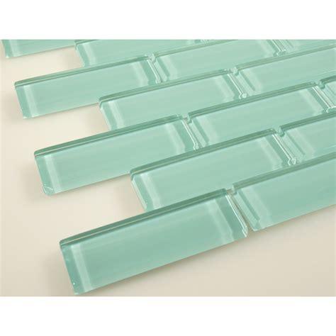 green glass tile 1 x 3 green glass brick tile glossy c08 2