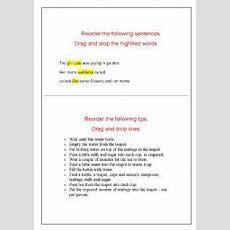English Teaching Worksheets Word Order