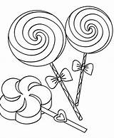 Coloring Candy Lollipop Canes sketch template