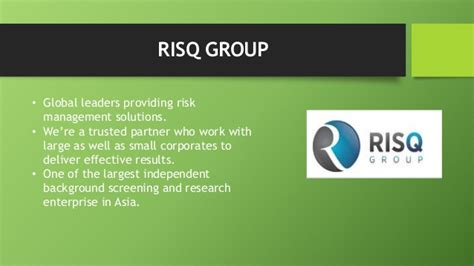Ppt Mitigate Hiring Risks With Reliable Background Check Risq Employment Screening Services