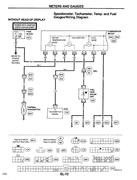 Nissan Instrument Lights Fuel Temp Tack Mete