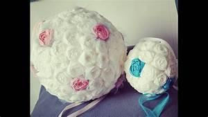 Boule En Papier Crepon : cr ation boule de fleur en papier youtube ~ Dode.kayakingforconservation.com Idées de Décoration