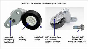 Chevrolet Silverado 1999-2006 Gmt800 How To Replace A  C Belt Tensioner