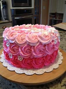 You have to see Rosette Ombre Sweet 16 Birthday Cake by