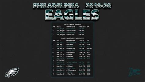 philadelphia eagles wallpaper schedule