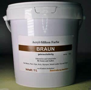 Farbe Für Beton Aussen : 12 50 eur l braun acrylsilikon farbe l f r innen und au en beton stein ebay ~ Eleganceandgraceweddings.com Haus und Dekorationen
