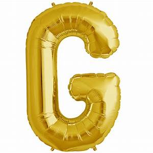34quot gold letter g foil balloon With alphabet letter balloons gold