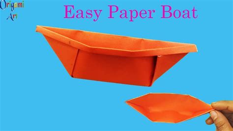 Origami Boat Very Easy by How To Make Paper Boat Easy Origami Boat Simple Crafts For